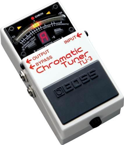 Boss tu-3 afinador cromático para guitarra/bajo (blanco)