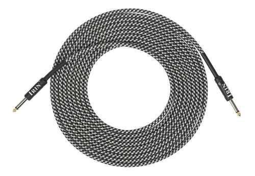 Cable reforzado para guitarra 6m irin amplificador 6.35 mm