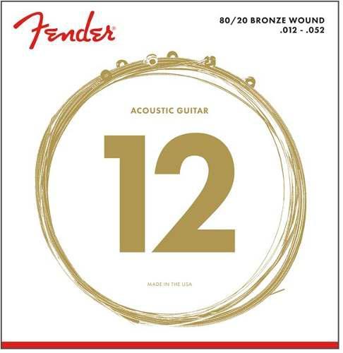Fender 0730070403 cuerdas de bronce para guitarra cal 12-52