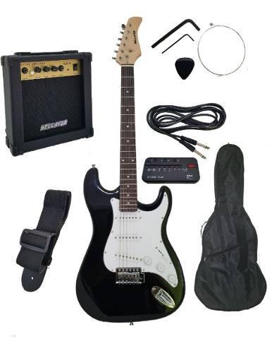 Guitarra eléctrica bellator c/amplificador y accesorios