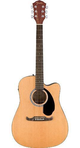 Guitarra electroacústica fa-125ce fender, dreadnought