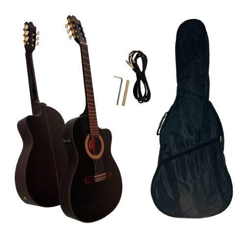 Guitarra electroacústica ibanez c/funda ga5tce-bk