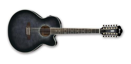 Guitarra ibanez ael2012e-tks electro-acústica de 12 cuerdas
