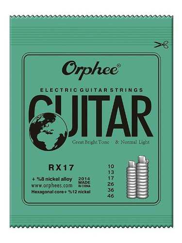 Pack 6 cuerdas orphee guitarra bajo electrica rx-17 set