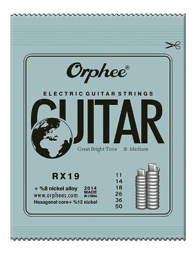 Pack 6 cuerdas orphee guitarra bajo electrica rx-19 set