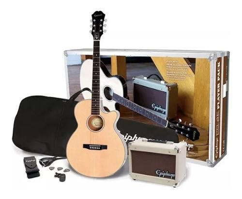 Paquete de guitarra electroacústica epiphone ppgr-eep4nach1