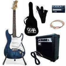 Paquete de guitarra skala eléctrica stratocaster