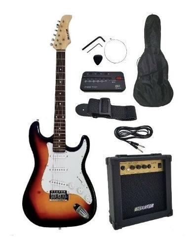 Paquete guitarra bellator sombors stratocaster original