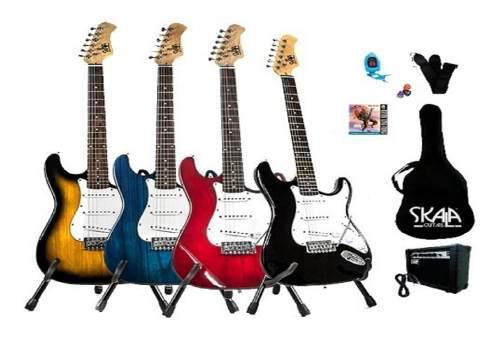 Paquete guitarra eléctrica skala tipo stratocaster skala