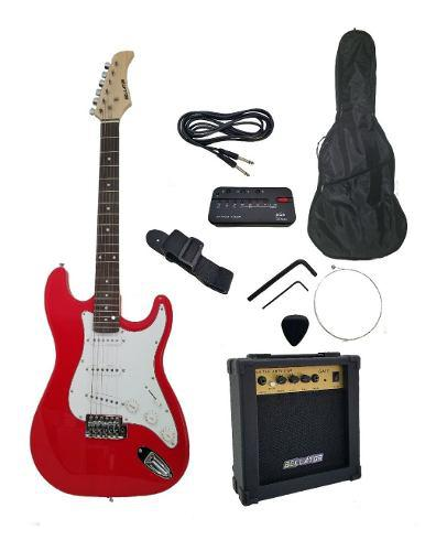 Paquete guitarra eléctrica stratocaster ballator