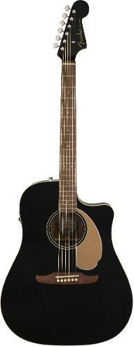 Redondo player jetty black guitarra electroacustica fender