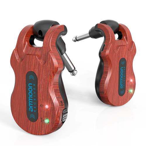 Sistema transmisor y receptor ammoon uhf para guitarras