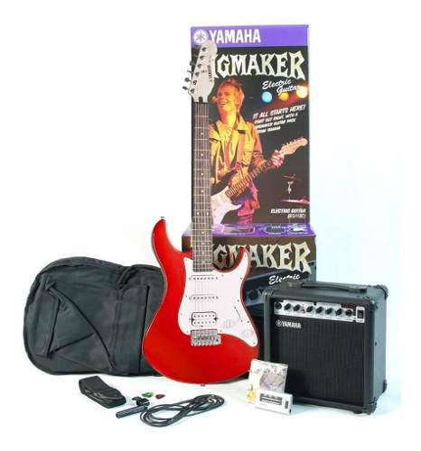 Yamaha eg112 gpii mr paquete de guitrra eléctrica roja