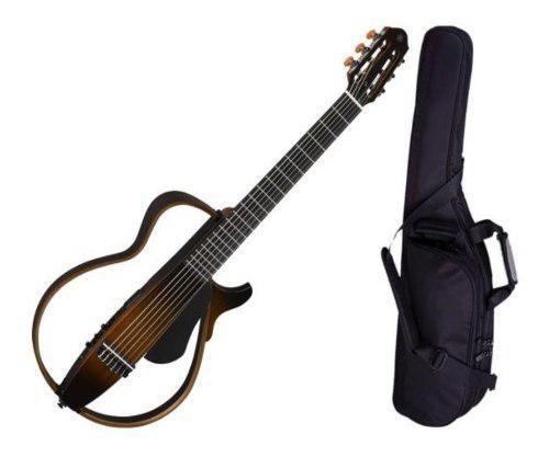 Yamaha guitarra silent slg200s sunburst cuerdas nylon dsp