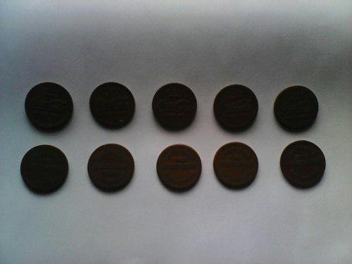 10 fichas de maquina vendedora de coca cola para coleccion