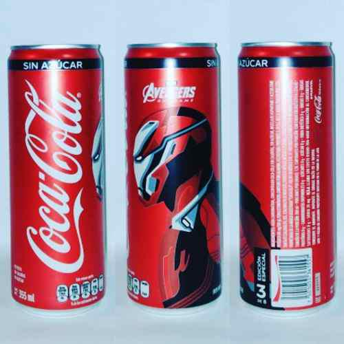 2 latas coca cola avengers end game iron man