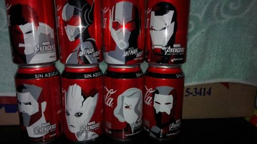 8 latas coca cola avengers y ant-man & the wasp 355ml