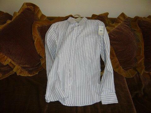 Camisa de vestir de manga larga, nueva, rayada talla m ó 38