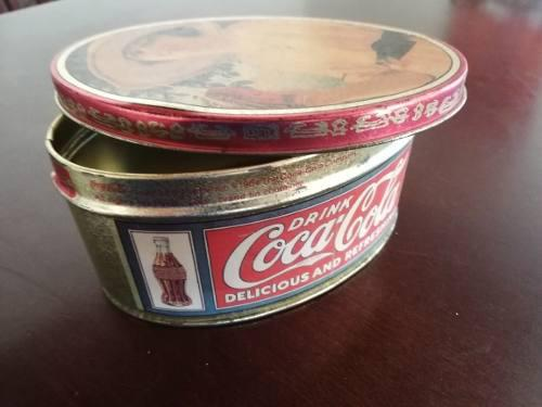 Caja Metalica De Coca Cola Coleccionable Antigua. Retro