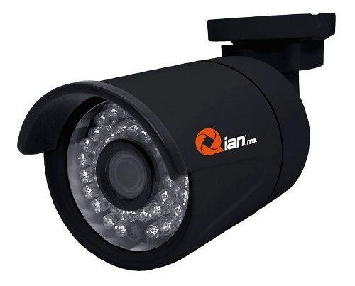 Camara qian bullet negra para interiores/exteriores hd-ahd 1