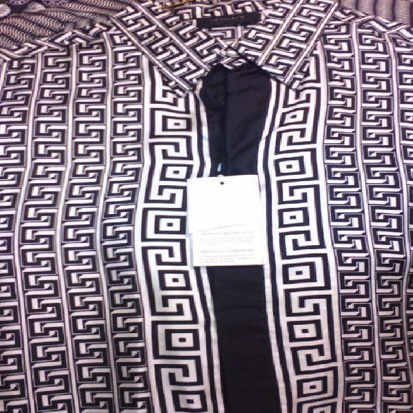 Camisa versace grecas importada vintage