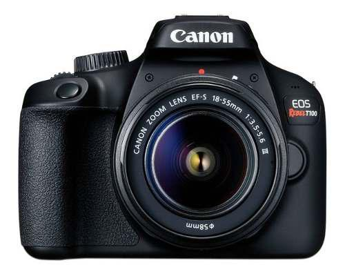 Cámara fotográfica digital canon eos rebel t100, 18 mp