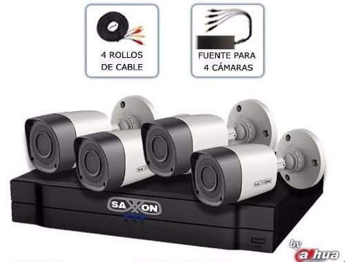Cámaras de seguridad kit de 4 cámaras saxon.