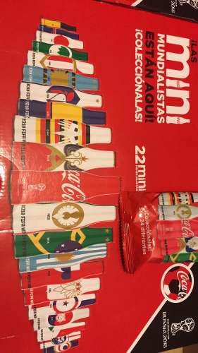 Coca cola 22 botellitas mini mundialistas