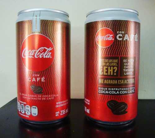Coca cola cafe con liquido