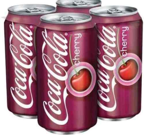 Coca cola cherry 6 pack de 355 ml cada lata.