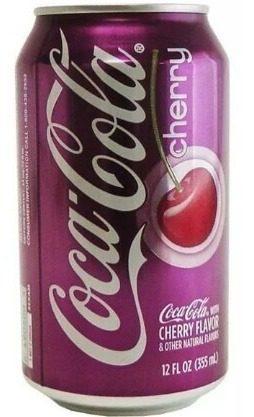 Coca cola cherry lata de 355ml. oferta.