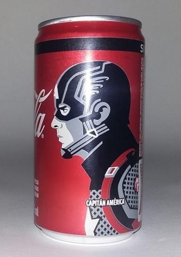 Coca cola lata, avengers end game, capitán américa, ed.