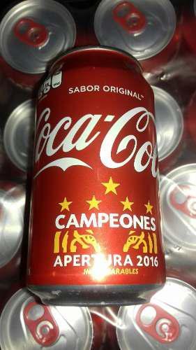 Coca cola lata tigres campeones 5 estrellas