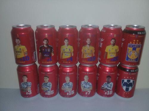 Coca cola latas tigres monterrey rayados