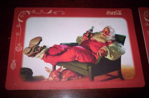 Coca cola mantel santa claus vintage vinil 2 modelos