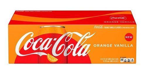 Coca cola orange vainilla, 12 pack lata 355 ml importado usa