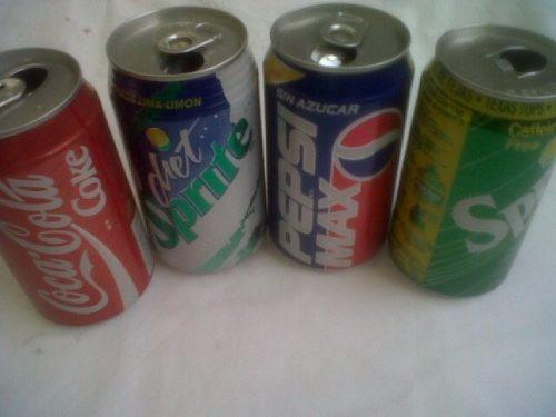 Coca cola sprite pepsi coleccionable lata refresco set retro
