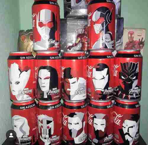 Colección coca cola avengers infinity war