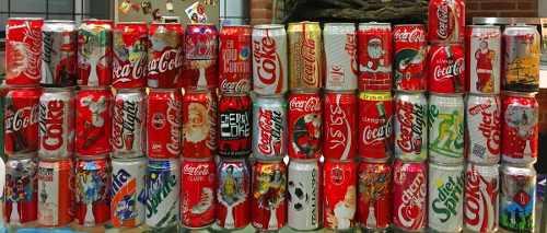 Colección de latas coca cola