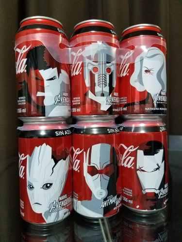 Colección latas coca cola avengers infinity war llenas 12
