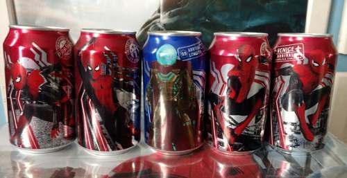 Coleccion latas spider man dr pepper marvel o coca cola