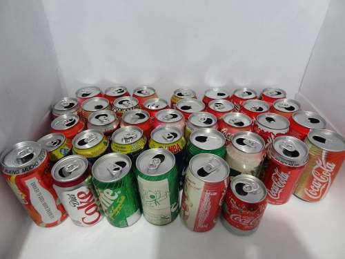 Coleccion vintage latas coca cola & sprite lote de 37 pz