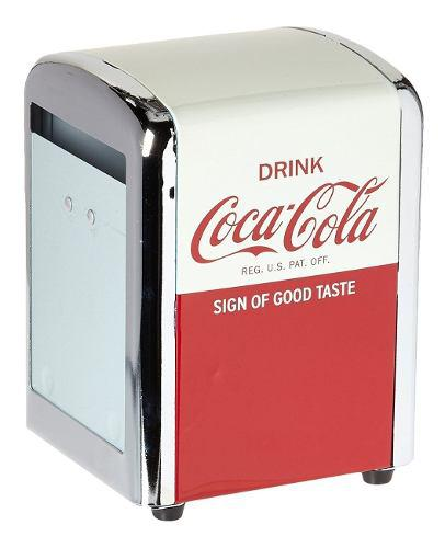 Dispensador de servilletas, media coca cola