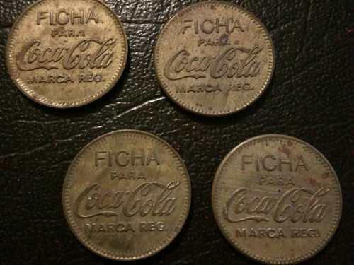 Fichas coca cola (set de 4)
