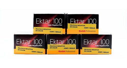 Kit 5 pelicula film ektar100 35mm kodak