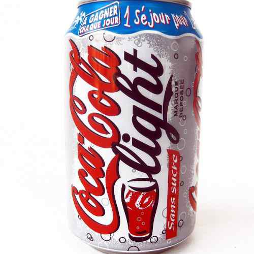 Lata antigua coca cola light 33cl francia 1999