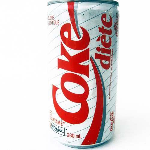 Lata antigua coca cola light coke 280ml canada 90's