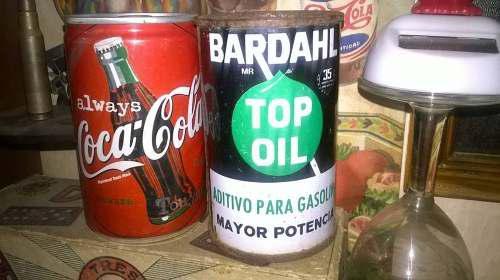 Lata Antigua De Aceite Bardahl 80s Y Coca Cola 90s.