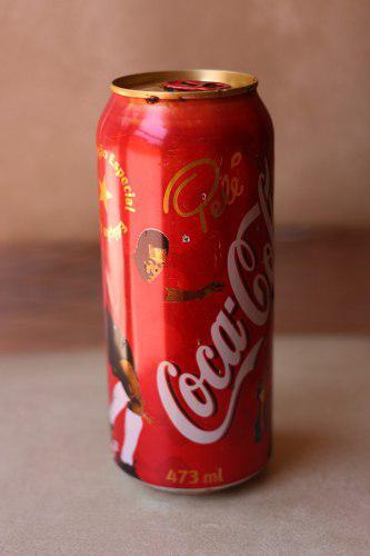 Lata brasil coca cola edición especial pelé de 473ml