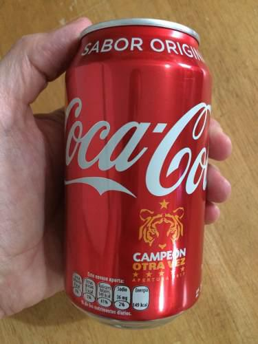 Lata coca cola 355 ml tigres campeón 6 estrellas 2017